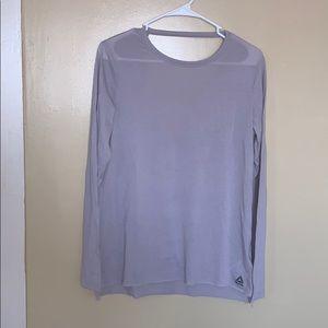Reebok long sleeve cut out shirt